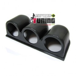 Support manometre 3 X 52mm CARBONE (01111)