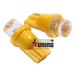 2 VEILLEUSES W5W LED T10 JAUNES (03710)