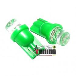 2 VEILLEUSES W5W LED T10 VERTES (03711)