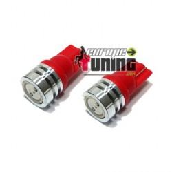 2 VEILLEUSES W5W LED T10 ROUGES (03712)