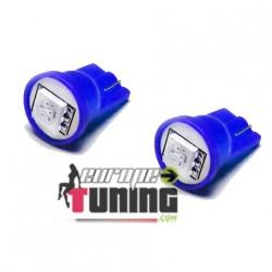2 VEILLEUSES W5W LED T10 BLEUES (03717)