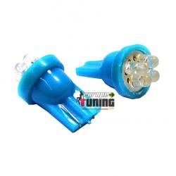 2 VEILLEUSES W5W LED T10 BLEUES (03715)