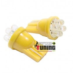 2 VEILLEUSES W5W LED T10 JAUNES (03716)