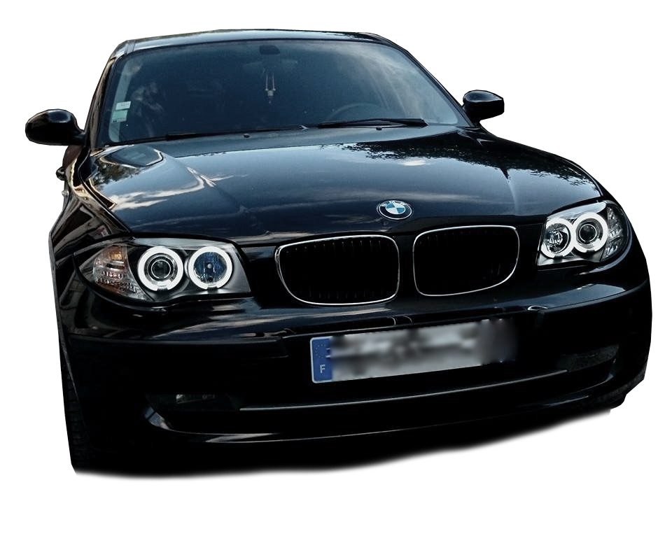 phares ccfl angel eyes noir bmw serie 1 e87 e82 e81 e88 00757 ebay. Black Bedroom Furniture Sets. Home Design Ideas