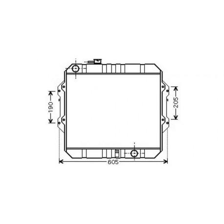 Radiateur refroidissement du moteur Toyota Hilux LN 165-170 01-05