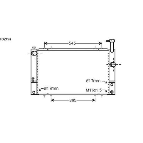 Radiateur TOYOTA PRiUS03-09 600x350