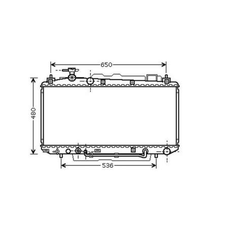 Radiateur refroidissement du moteur Toyota RAV 4 03-06