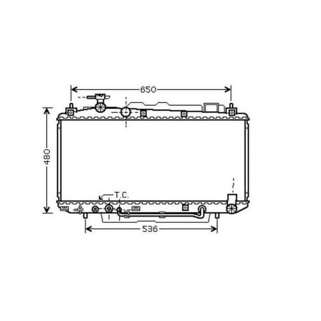 Radiateur refroidissement du moteur Toyota RAV 4 00-03