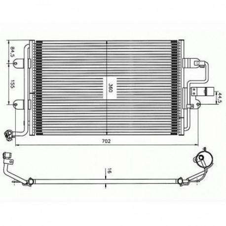 condenseur VW GOLF IV 98- sauf 110KW TDi