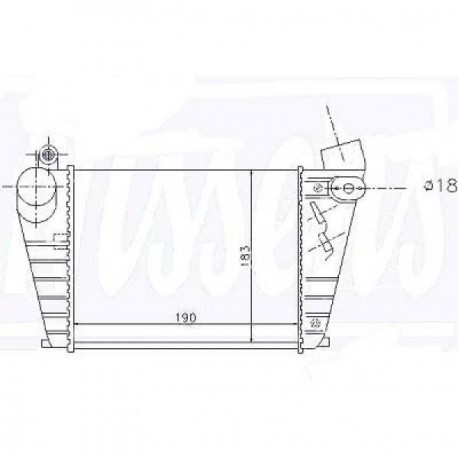 Radiateur Air GOLF IV 01-04 185x190x85
