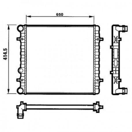 Radiateur eau GOLF 4 1.6,1.8,1.9TDi