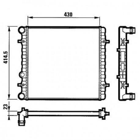 Radiateur eau GOLF 4 430x414 1.3,1.6,M/A