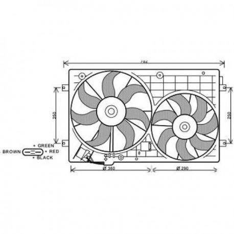 Ventilateur refroidissement du moteur VolksWagen Passat 05-10