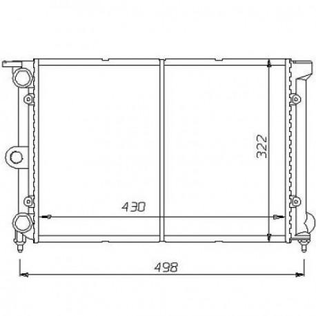 Radiateur eau SEAT IBIZA/CORDOBA99- 647x377