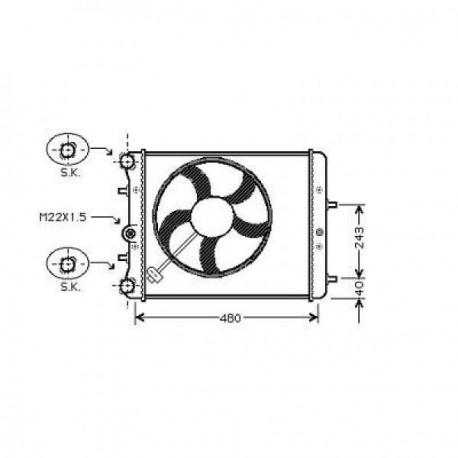Radiateur eau POLO01- 430x413