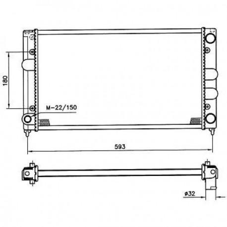 Radiateur eau PASSAT88-93 525x322