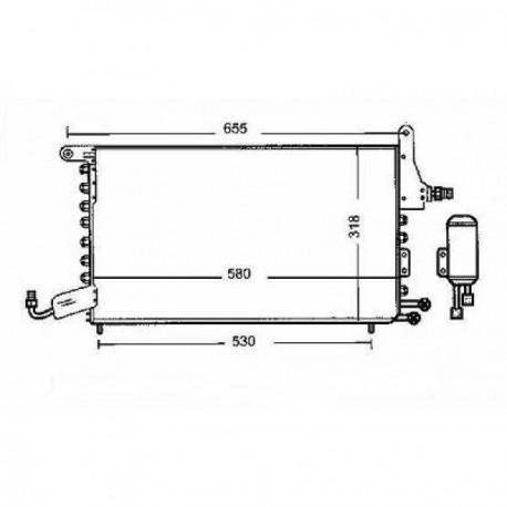 Condenseur climatisation Seat Toledo 91-99