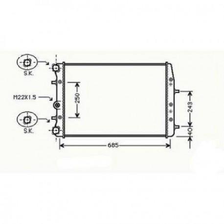 Radiateur refroidissement du moteur VolksWagen Polo 01-05