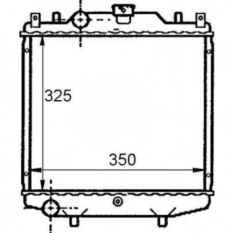 Radiateur eau SUZUKI ALTO EF94-02 325x348