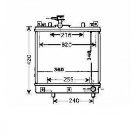 Radiateur eau ALTO02-06 348x360x33