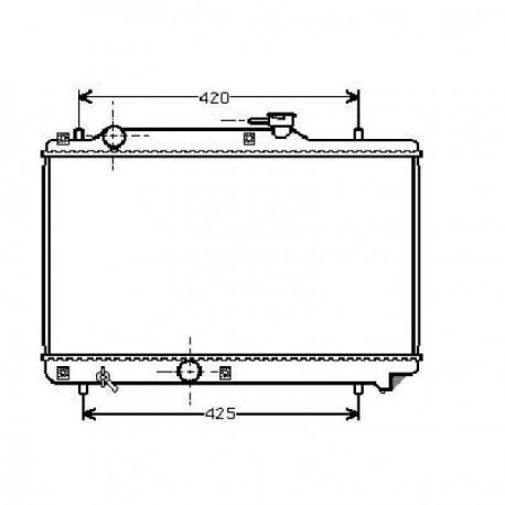 Radiateur refroidissement du moteur Suzuki Baleno 99-01