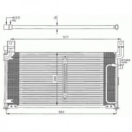condenseur BALENO95- 550x320x20