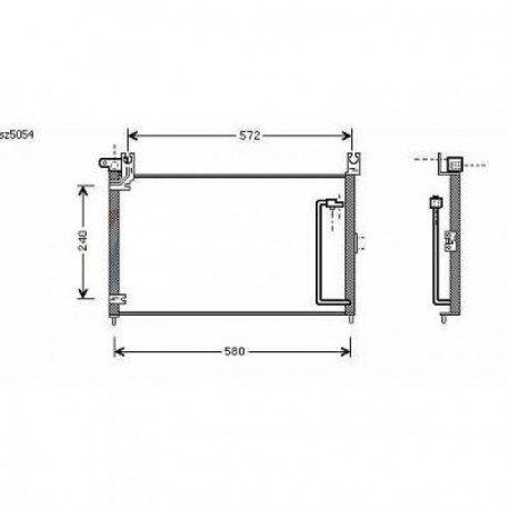 condenseur BALENO99- 550x300x20