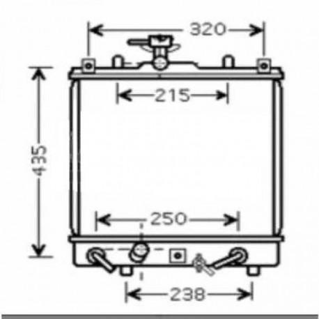 Radiateur refroidissement du moteur Suzuki Wagon R+ apres 2000