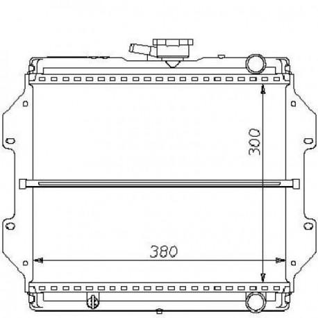 Radiateur eau SAMURAI SJ41082-92 300x383x34
