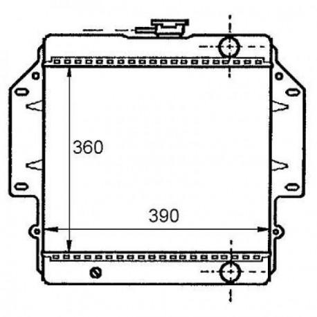 Radiateur eau SAMURAI SJ41384-88 358x390