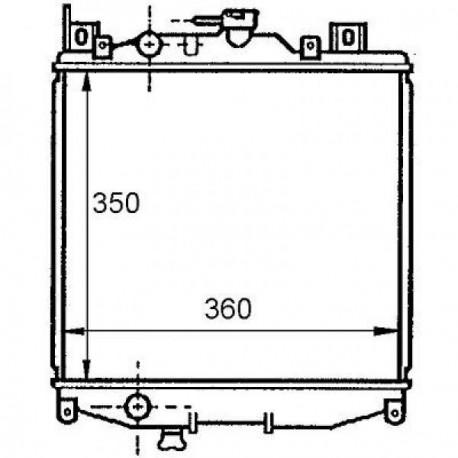 Radiateur refroidissement du moteur Suzuki Swift 310/413/416 89-96