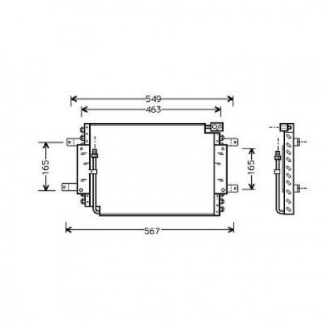 condenseur VITARA iLX88-93 437x335x25