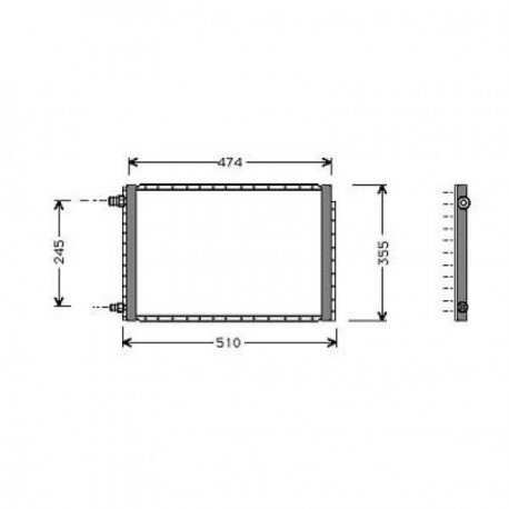 condenseur VITARA94-97 438x334x22