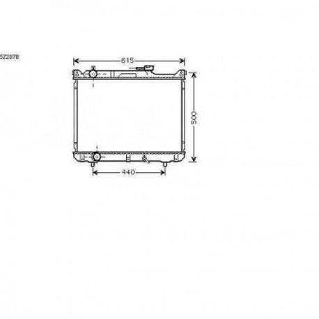 Radiateur refroidissement du moteur Suzuki Grand Vitara 98-05