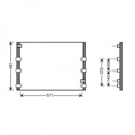 condenseur LANDCRUISER96- 563x483