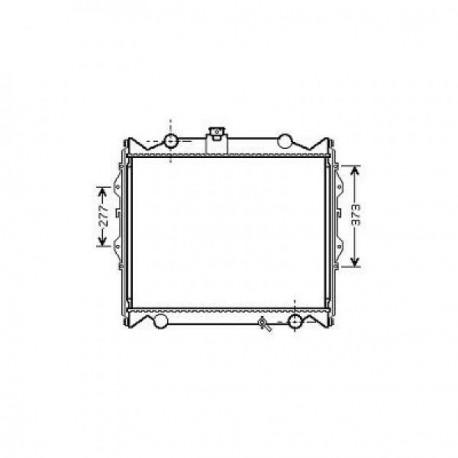 Radiateur eau TOYOTA LANDCRUISER96- 575x643