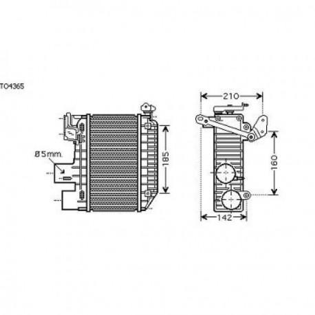 Radiateur d'air AVENSIS T2200-03 125x260