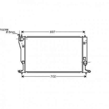 Radiateur eau AVENSIS05- 623x413x36
