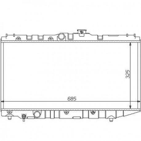Radiateur refroidissement du moteur Toyota Corolla Liftback 87-92