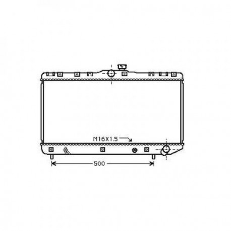 Radiateur refroidissement du moteur Toyota Corolla Typ:E11 97-99