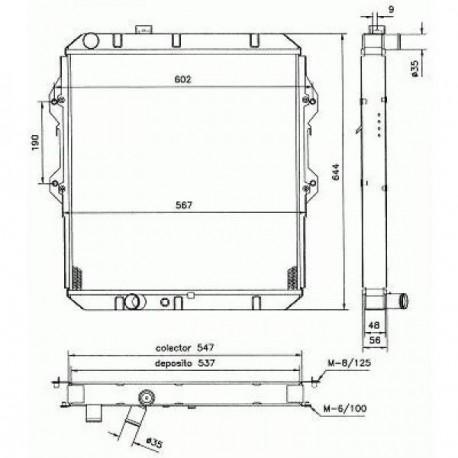 Radiateur refroidissement du moteur Toyota Hilux LN145-170 97-01