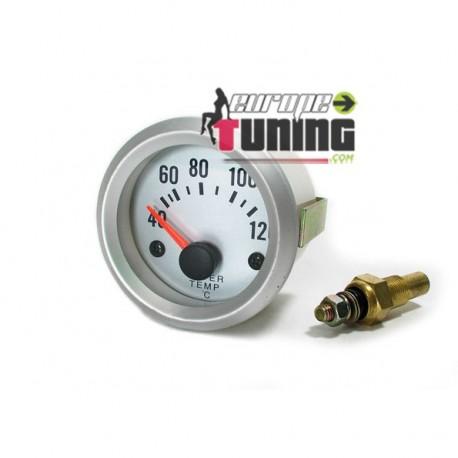 MANOMETRE 52mm Temperature Eau SILVER (01120)