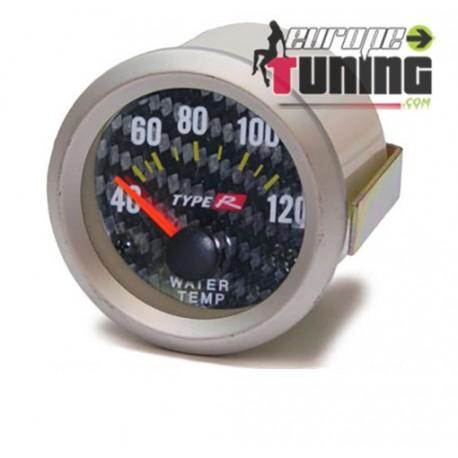 MANOMETRE CARBONE 52mm Temperature Eau (01098)