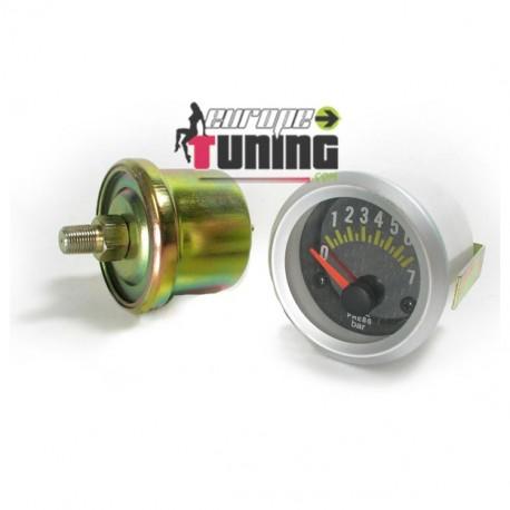 MANOMETRE CARBONE 52mm Pression Huile (01130)
