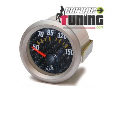 MANOMETRE CARBONE 52mm Temperature Huile (01100)