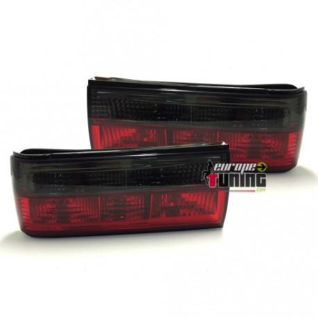 Paire de feux Rouges / Noirs BMW E30 phase 2 (12287)