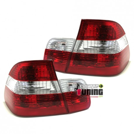 FEUX TUNING ROUGES / CRISTAL BMW E46 BERLINE 2001-2005 (10052)