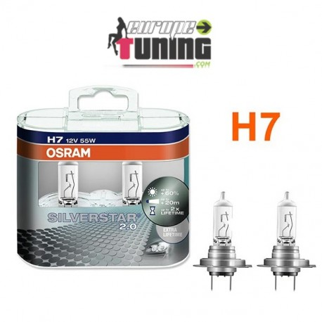 2 AMPOULES OSRAM H7 55W SIVERSTAR (01020)