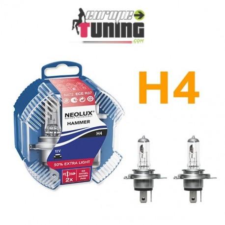 2 AMPOULES H4 55W + 50% (01021)