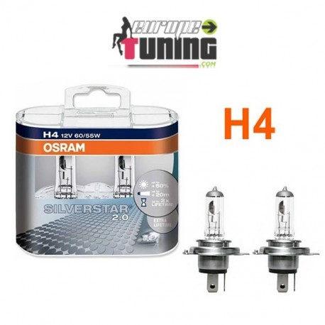 2 AMPOULES OSRAM H4 55W SIVERSTAR (01022)
